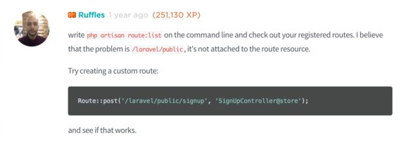 NotFoundHttpException in RouteCollection php line 161