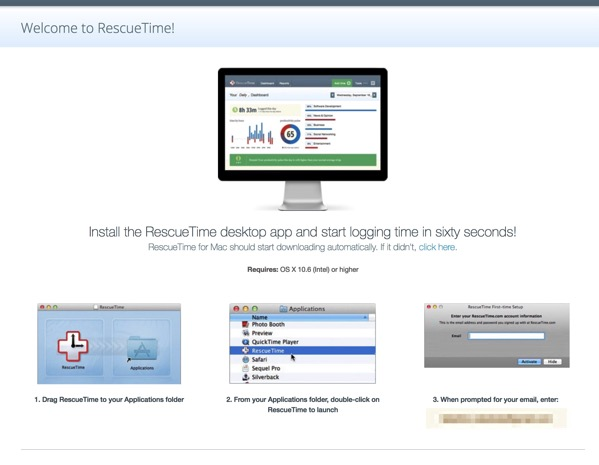 RescueTime Welcome to RescueTime