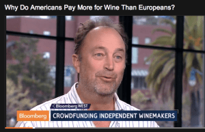 talking about crowdfunding winemakers on bloomberg tv