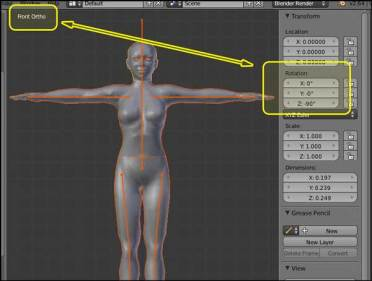 Blender 2.64a - Transform/Rotation