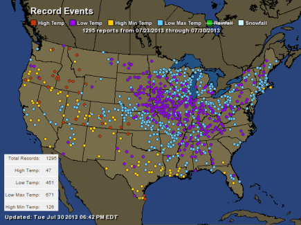 Record Breaking Hi & Low Temps - HamWeather.com
