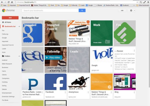 Google's New Bookmarks Manager