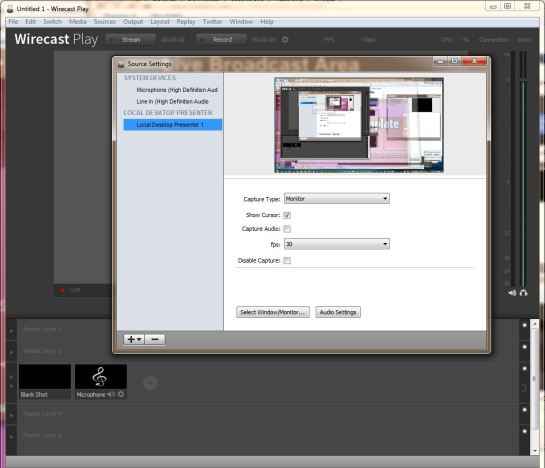 Wirecast Setup