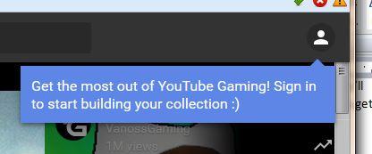 YouTube Gaming Login