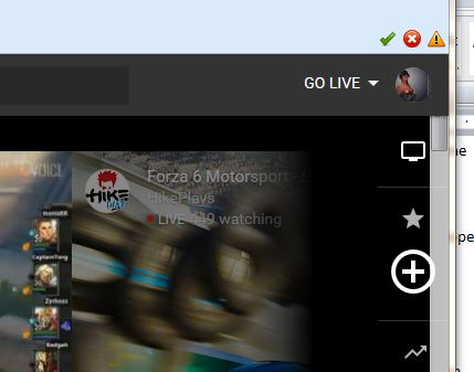 YouTube Gaming - Upper Right of Home Screen