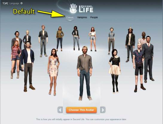 Linden Lab's New Starter Avatars - Classic is now the default.
