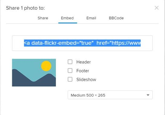 Flickr Share: Share, Embed, Email, and/or BBCode for forum.