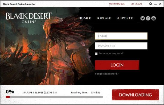 Black Desert Login