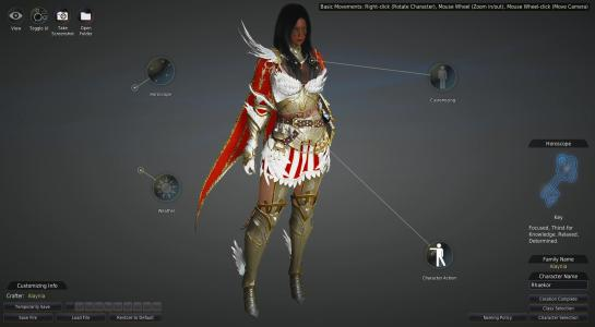 In the Character Creation Phase