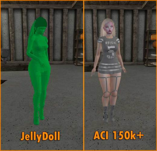JellyDoll and Fully Rendered Avatar.