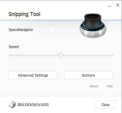 3Dconnexion Settings Panel