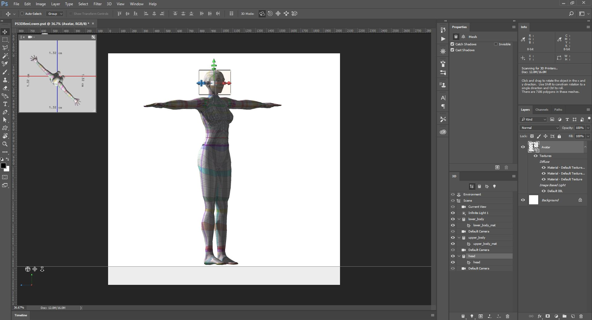 Photoshop 3D: How to make textures for Second Life Avatars – #1 ...