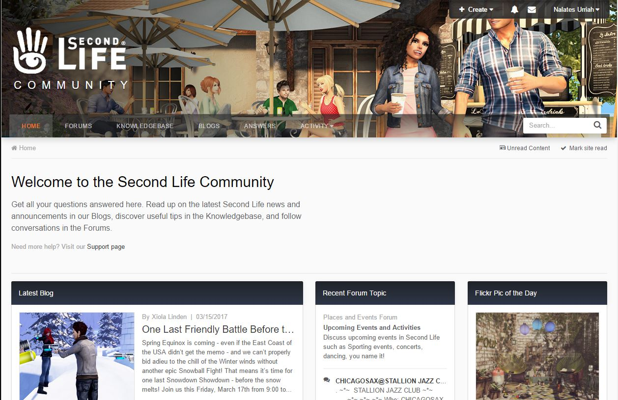 Second Life: New Community Site – How to Use   Nalates' Things