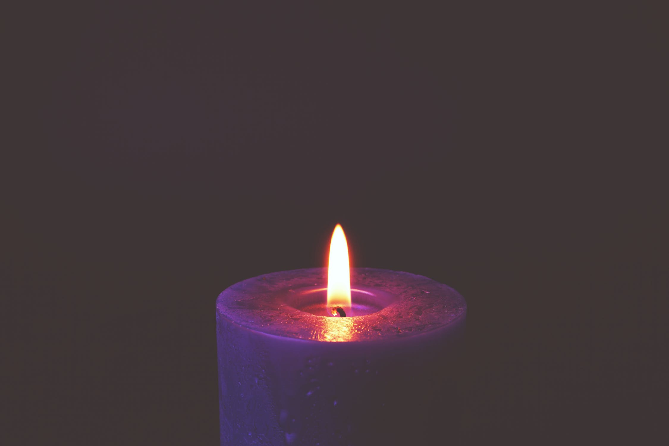 burning candle for meditation