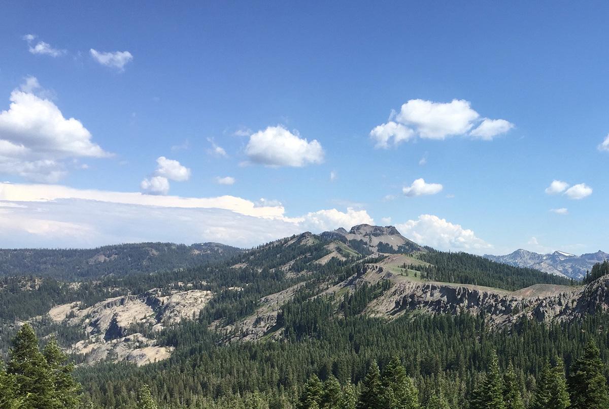 Mountain Ridge Path across the Sierras