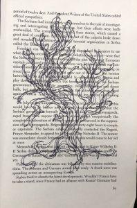 joshua tree drawn inside of a book