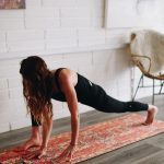 yoga student in low lunge