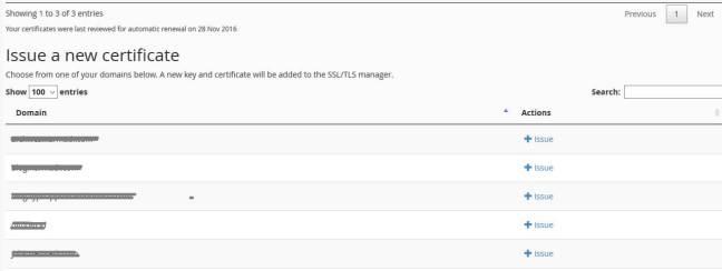 gratis ssl sertifikat untuk banyak domain