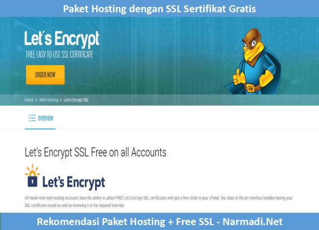 Paket Hosting Dengan SSL Sertifikat Gratis Selamanya