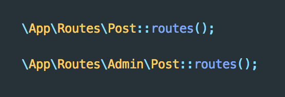Routes for Web