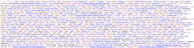 Minified HTML Codes