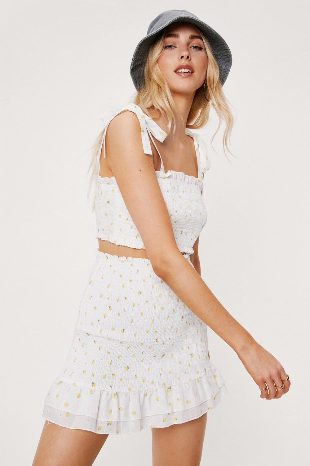 daisy co ord top and skirt set