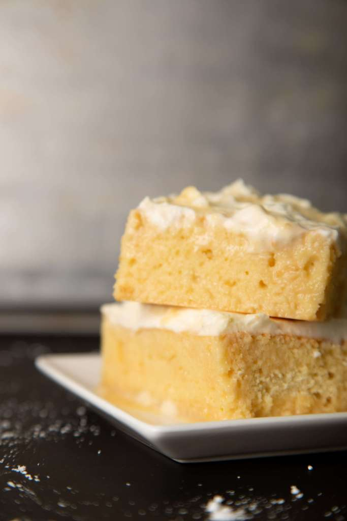 tres leches cake with frosting