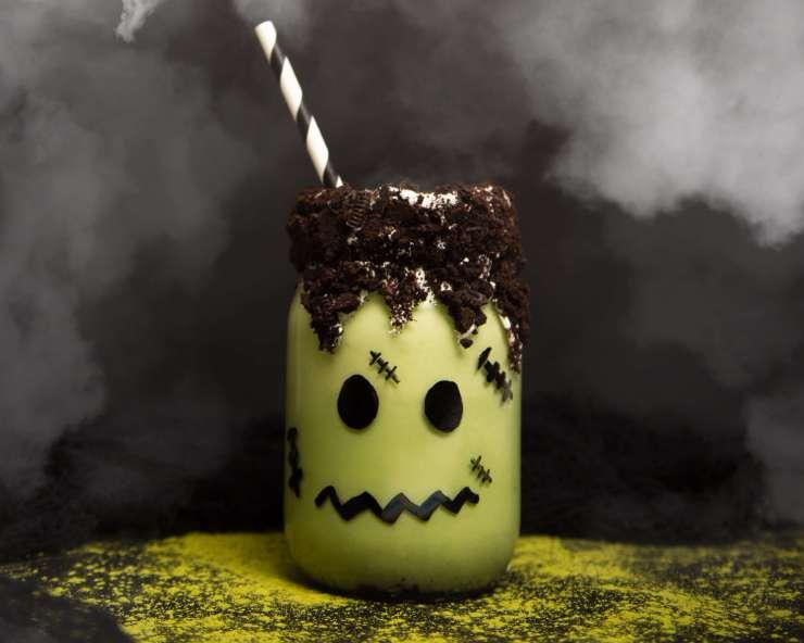 Frankenstein Matcha Milkshake