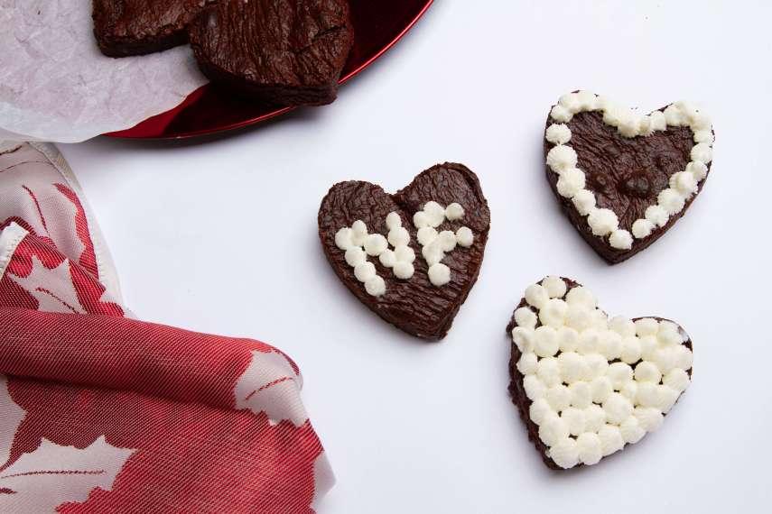 Heart Fudge Brownies
