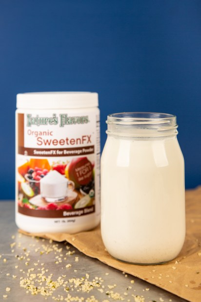 sweetenfx with Hemp Milk