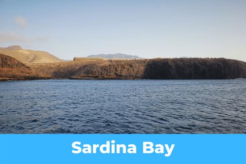 Les Canaries : Sardina Bay