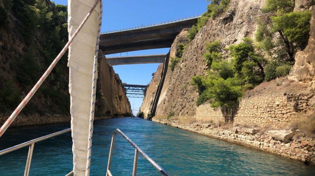 un Itinéraire alternatif au canal de Corinthe