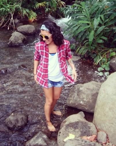 Mackenzie Stewart enjoying the outdoors in Hawaii.