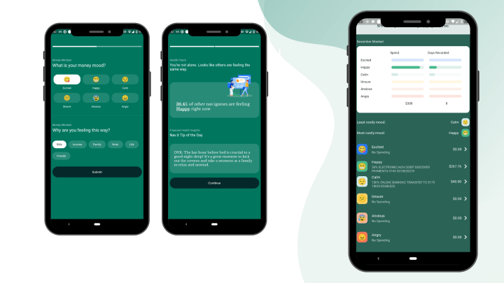 Checking in with insights from Nav.It's money mindset helps you track your spending and your financial wellness.