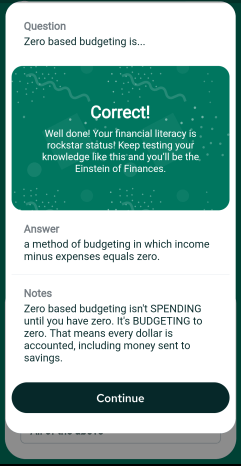 Improve your financial literacy with the quizzes inside the nav.it money tracking app.