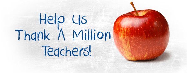 Grant Opportunity: Thank a Million Teachers