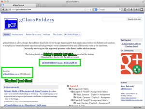 gClassFolders Screenshot
