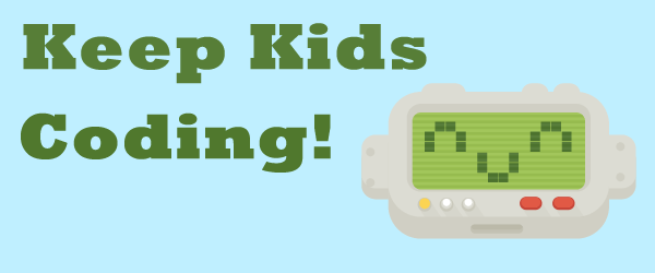 Keep Kids Coding! DanceMat Typing