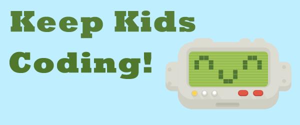 Keep Kids Coding! DanceMat Typing