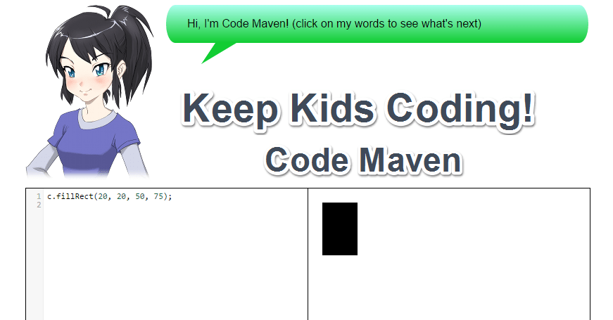 Keep Kids Coding! Code Maven