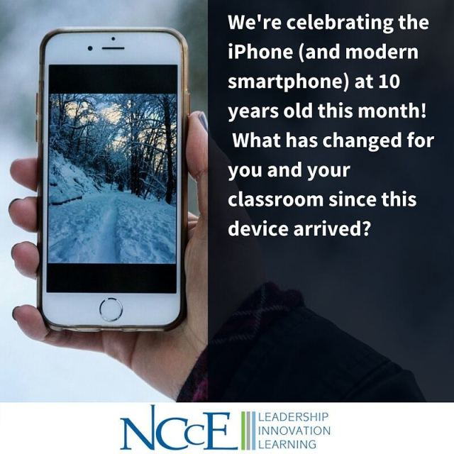 Happy birthday iPhone! lt3 NCCE iphoneat10 nccechat edtech