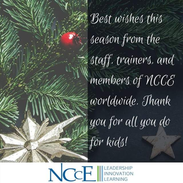 Best wishes from NCCE! holiday iamncce