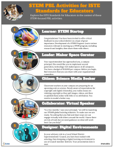 STEM PBL Activities for ISTE Standards for Educators