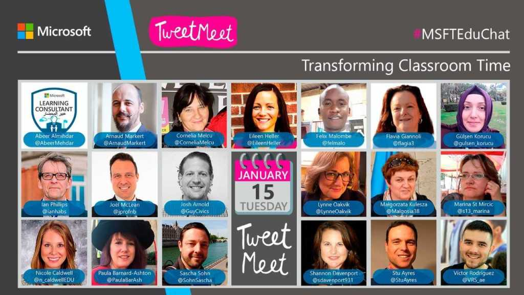 Social Professional Development Opportunity: Transforming Classroom Time TweetMeet