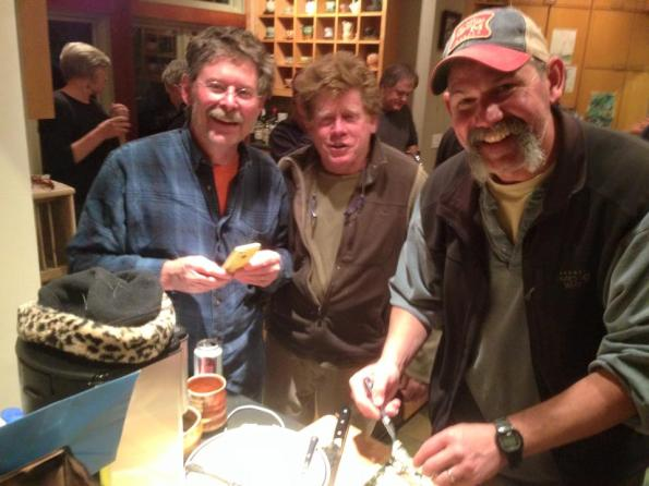 Doug Casebeer (director of Anderson Ranch) Chris Gustin (local potter and wood-fire master) & Matt Long (maker of soda fired whisky flasks, jugs, shot glasses etc. my kind of guy. Also gives REALLY great hugs!)