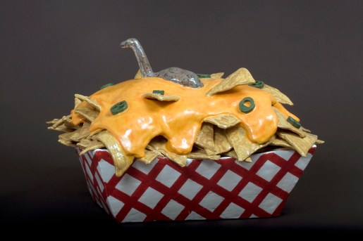 "The Nacho-mess Monster, Low-fire Ceramic, 18.5"" x 27"" x 21"" 2010"