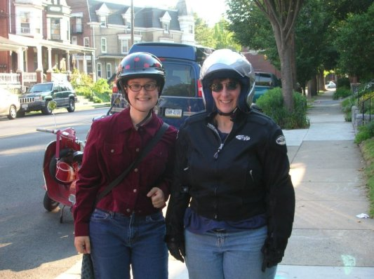 Shalya and Debbie Ready to scoot