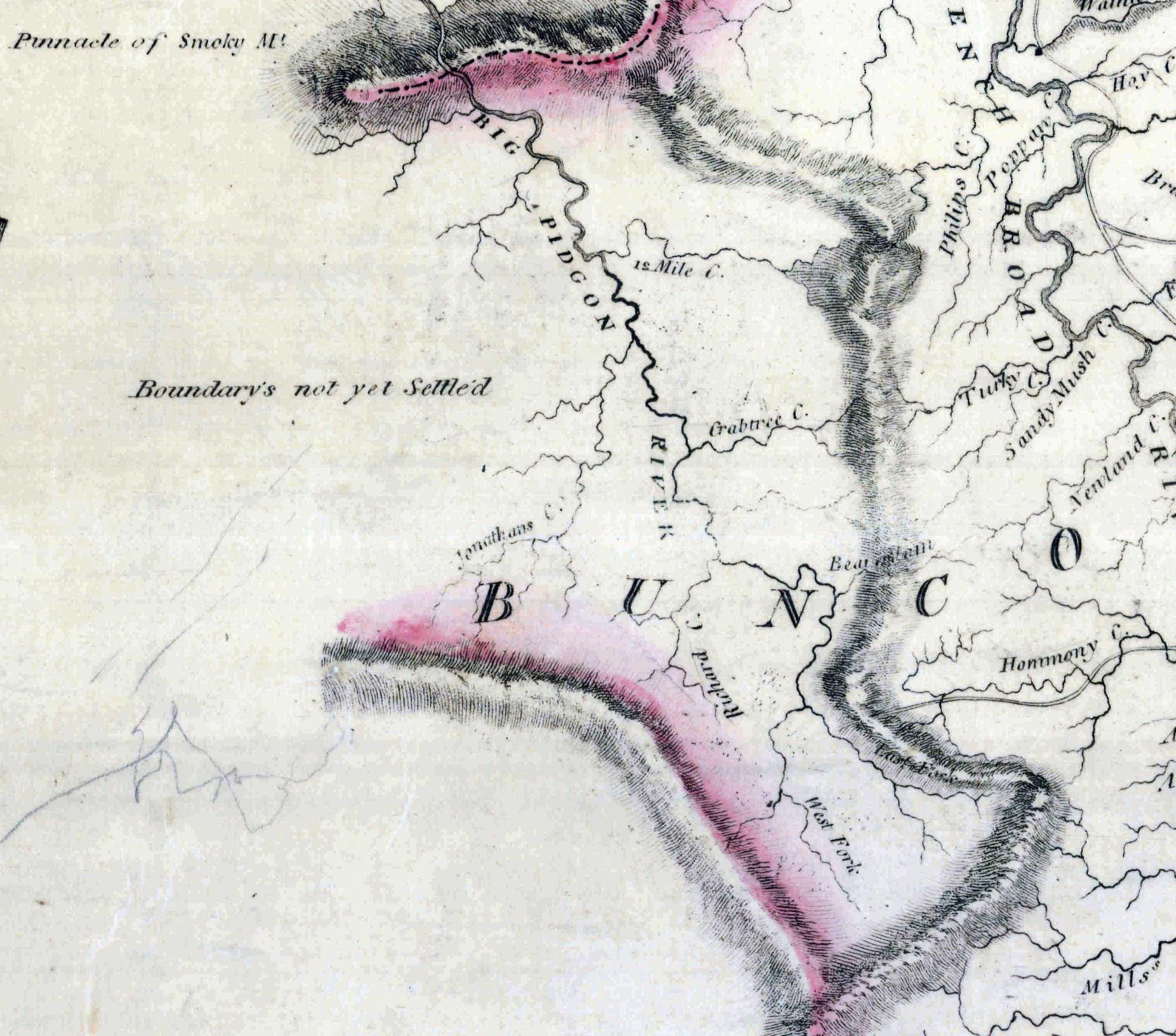 1808 Price Strother Map Of Nc Image From National Archives