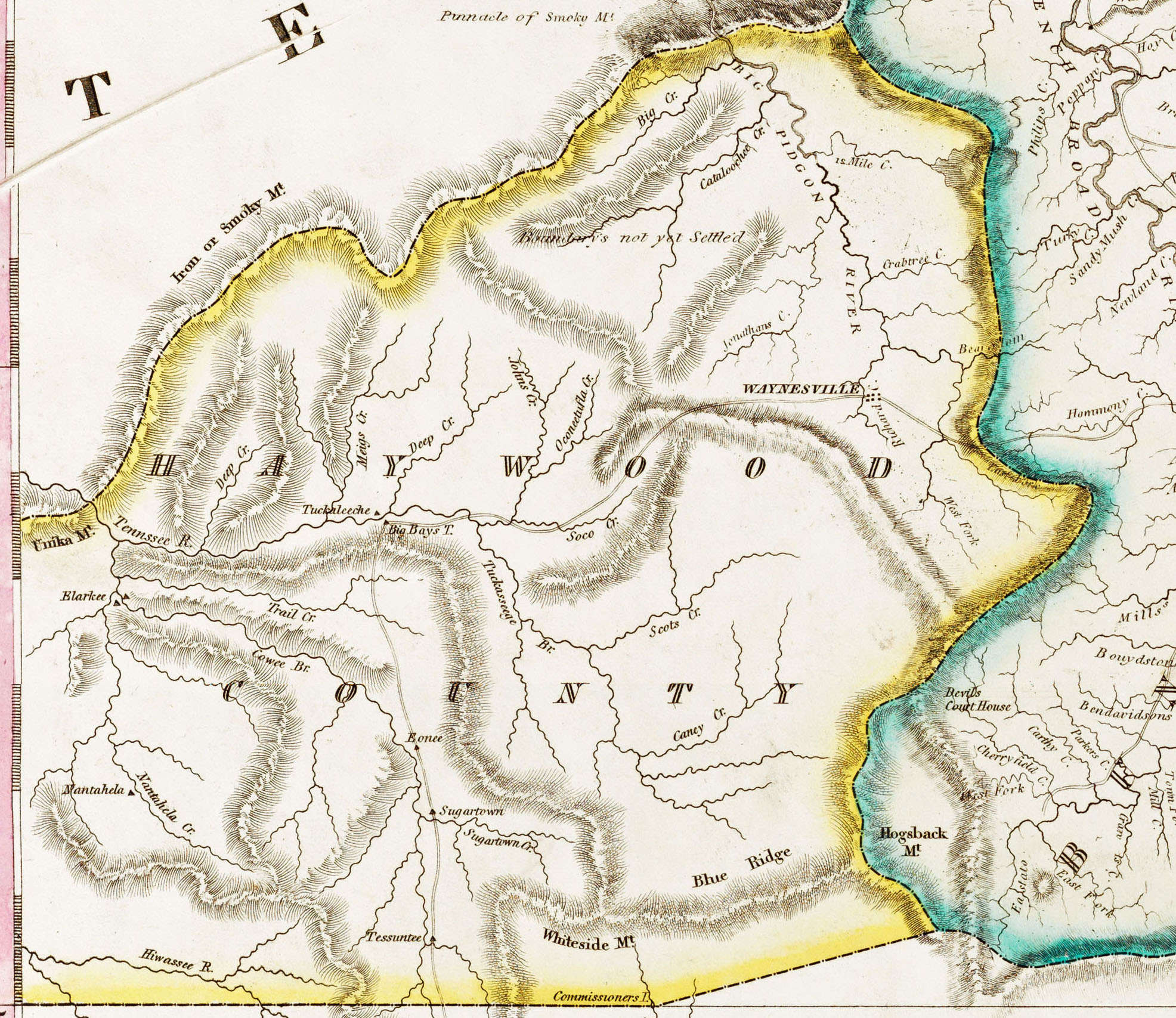 1826 Revised Edition Of Price Strother Map Bibliotheque Nationale De France Paris