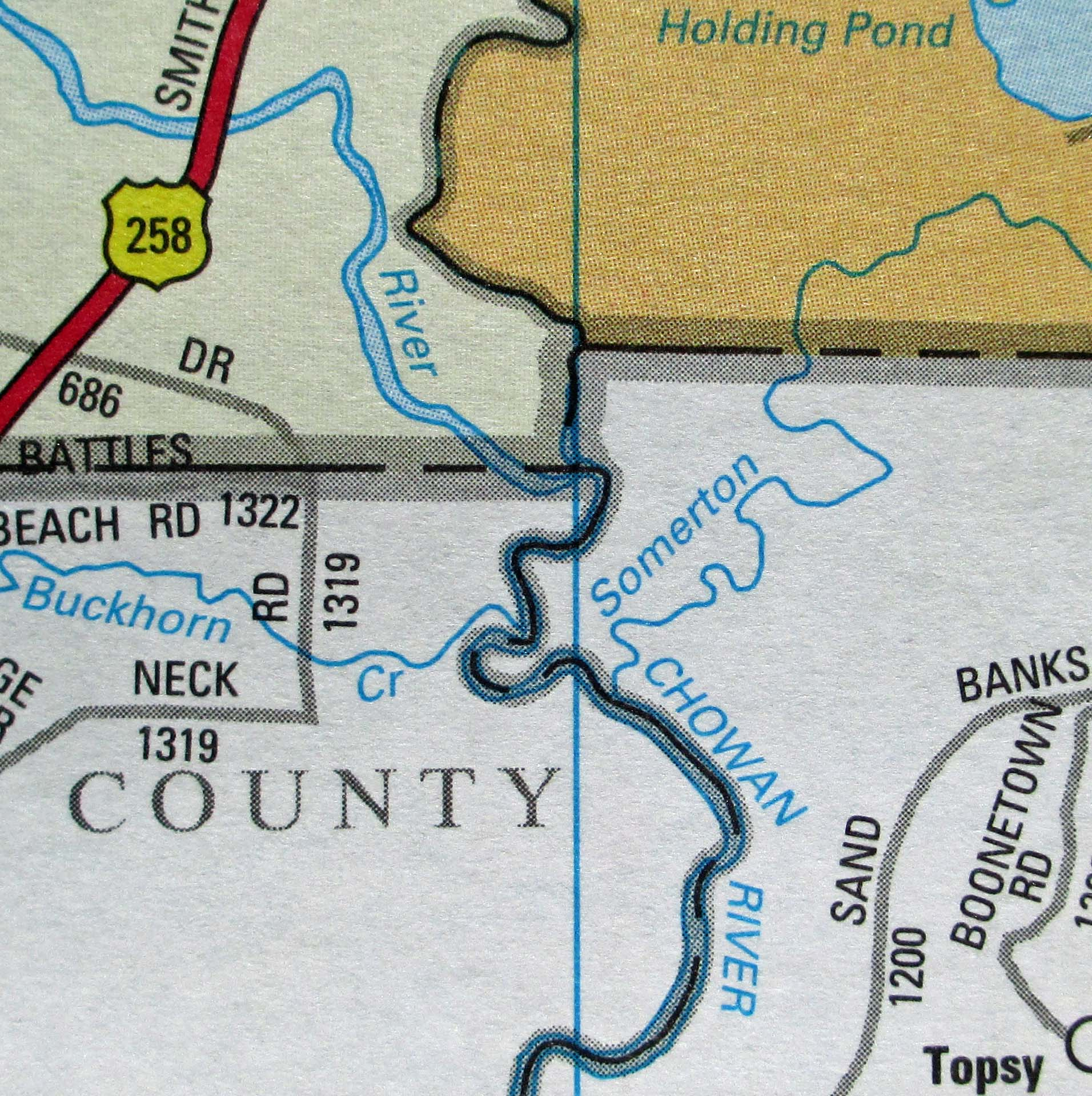 Why Is There A Bump On Our Boundary North Carolina Map - Map of northern north carolina